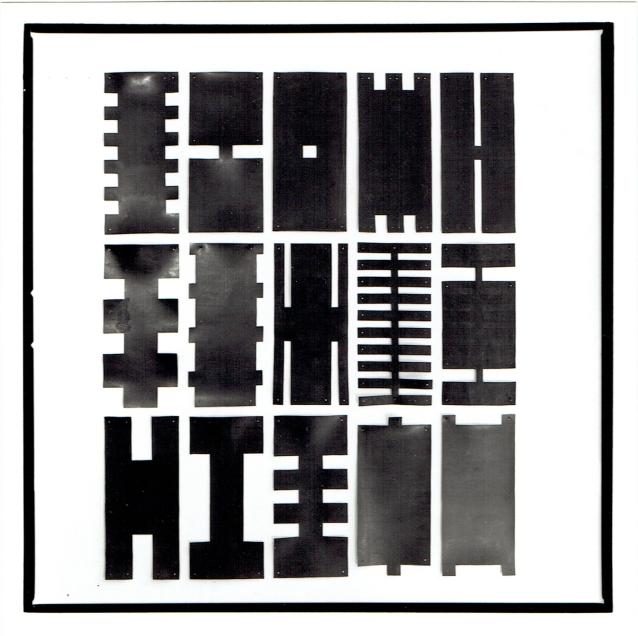 3 x 5 zwart